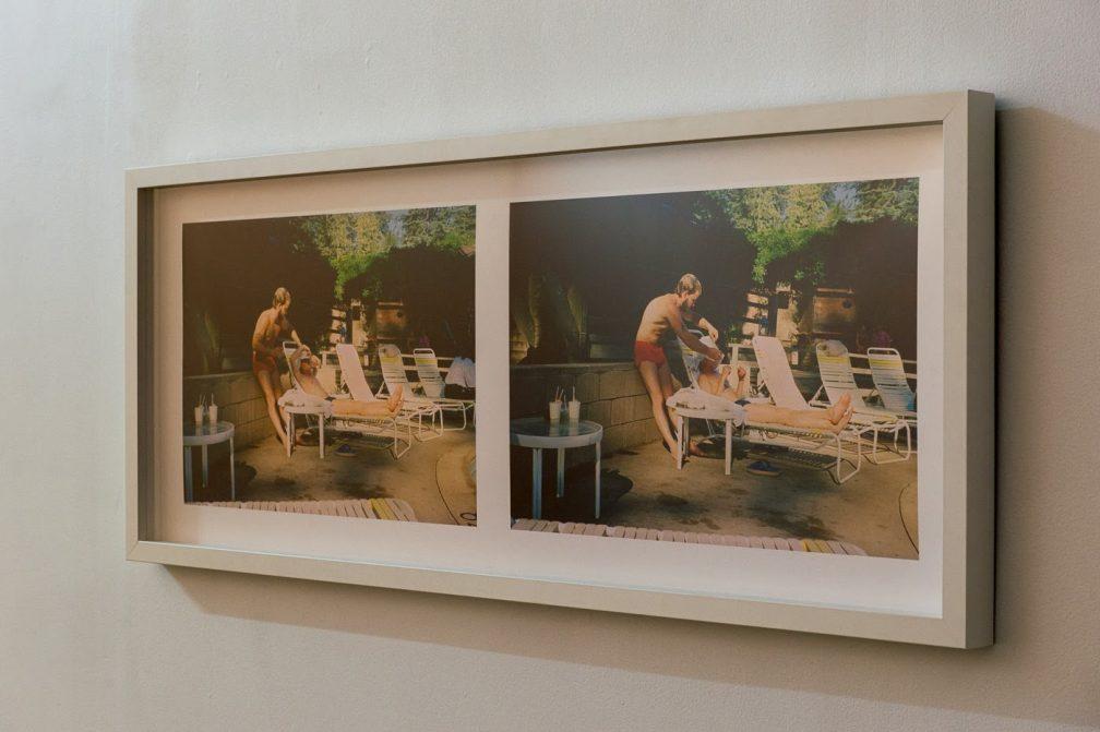 Linger (1986/2013); framed double inkjet print from color negatives