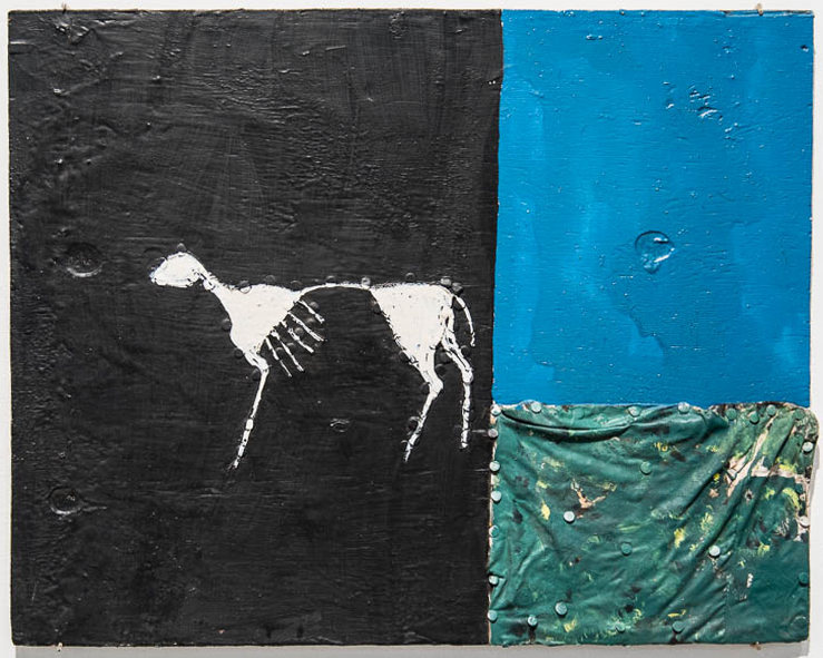 Ronald Lockett (1965-1998) Untitled (Horse), 1987 Mixed media Collection of William S. Arnett Lucas Pearson Photography